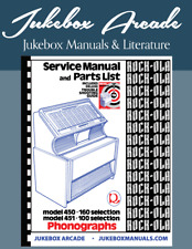 NEW! Rock Ola 450 - 451 Service & Parts Manual with Deluxe Troubleshooting Guide