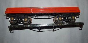 IVES Prewar Wide or Standard Gauge 196 Flatcars! Parts or Restore! PA