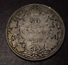 Canada 50 Cents Silver 1912 VG