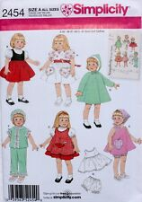 "16"" & 18"" DOLL CLOTHES Simplicity Sewing Pattern 2454 NEW Retro Vintage Wardrobe"