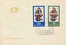 Ersttagsbrief DDR MiNr. 1299, 1300, Deutsche Spielkarten