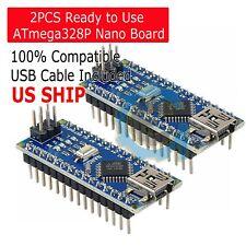 2X MINI USB Nano V3.0 ATmega328P CH340G 5V 16M Micro-controller board Arduino