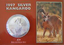 1997 Australia's Silver Kangaroo $1 1oz Frosted UNC Coin - Royal Australian Mint