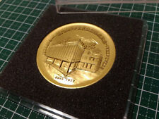 SGI Soka Gakkai Japan Cultural Center in Tottori medal 1977 with CASE Kanji Rare