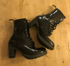Rare Dr Martens Diva Darcie Black Patent leather boots UK 6 EU 39 US 8