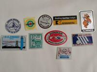 Retro Mining Sticker - 10 Stickers as pictured (Lot 6)