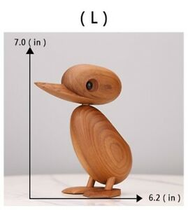 Quality Super Cute Wooden Teak Duck - Large - 180mm - Ornament