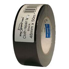 Premium Tape DUCT 190 48mm x 50m Schwarz Gewebeband Klebeband Steinband Gaffa
