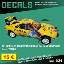 DECALS repro Peugeot 405 T16 GT Paris Dakar Rally Camel 1 24 Tamiya Bburago