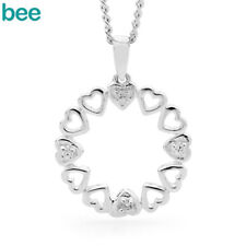 New Simulated Diaomond 925 Sterling Silver Christmas Wreath Drop Pendants