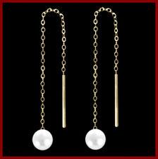 ECHT GOLD *** Durchzieher mit Perle, 65 mm