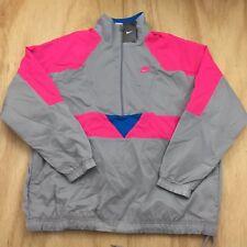 Nike Vaporwave Pullover Jacket Pink/Grey Retro Mens Sz [Xl] Windbreaker New