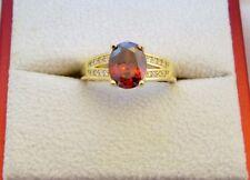 Handmade Ruby Oval Costume Rings