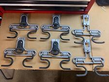 Rubbermaid FastTrack S Hook Long Handle Tool Rack Garage Organization