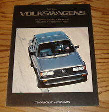 Original 1984 Volkswagen VW Full Line Sales Brochure 84 Jetta GTI Vanagon