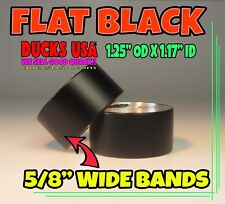 "5/8"" Wide Black Goose Call Custom Aluminum Bands 1.25"" Od x 5/8"" Wide 2-Pack"