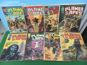 1975 Marvel PLANET Of The APES (8) Magazine LOT #4,5,6,8,9,10,14,16 - Nice