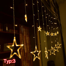 LED Lichterkette Party Fenster DEKO Weihnachtsparty Lichtervorhang Balkon Ip44
