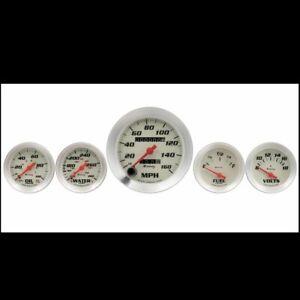"Equus 8000 series 5 Piece Gauge Kit with 3-3/8"" Speedometer"
