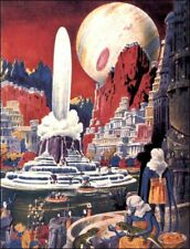 Life on Other Worlds : Frank R. Paul : Circa 1941 Archival Quality Art Print