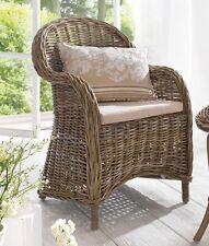 Rattansessel mit Sitzkissen Rattanstuhl Gartensessel hochwertig stabil