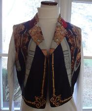 Women's Emanuel Ungaro Multi Color Silk Vest/Jacket Open Front in size 8/42