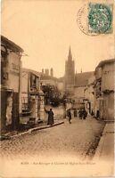 CPA Agen-Rue Béranger et Clocher de l'Eglise Saint-Hilaire (264225)