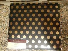 Recollections Scrapbook Album -Gold Polka-Dot on Black