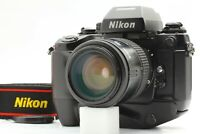"""EXC+5 w/ Strap"" Nikon F4S + AF Nikkor 35-105mm Lens + MB-21 from Japan #344"