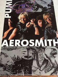 RETRO POSTER.AEROSMITH.PUMP.STEVEN TYLER.1989.POP.ROCK.MUSIC