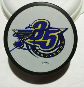 Keith Tkachuk Signed St Louis Blues 35th Anniversary Logo Puck NHL