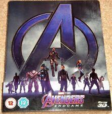 Avengers: Endgame Steelbook / 3D+2D Region Free Blu Ray / WORLDWIDE SHIPPING