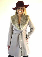 Knee Length Zip Patternless Formal Coats & Jackets for Women