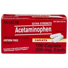 Extra Strength Acetaminophen 500 mg, 100 caplets