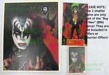Signed Gene Simmon KISS 8x10 Photo ☆ 1978 Army Kit w NITF GUITAR PICK +BIN Bonus