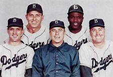 BROOKLYN DODGERS 1950s COLOR TEAM MEMBERS PHOTO REESE DUKE JACKIE