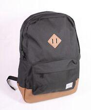 KO5 Herschel Heritage Rucksack Backpack Canvas schwarz braun Laptopfach NEU