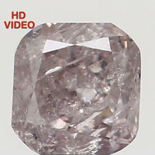 Natural Loose Diamond Brown Pink Color Cushion I2 Clarity 2.80 MM 0.14 CT N7194