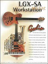 Godin LGX-SA workstation electric guitar ad 8 x 11 advertisement print