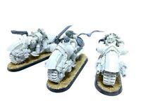 Warhammer 40k Space Marines White Scars Forge World Legion MKIV Outrider Bikes