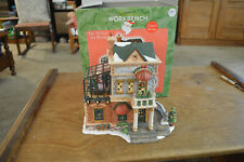 SANTAS WORKBENCH THE TERRACE TEA ROOM 2002 LIGHTED CHRISTMAS VILLAGE