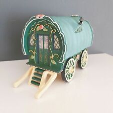 Gypsy Caravan - Green Realist Ornament Indoor Outdoor Miniature World Garden NEW