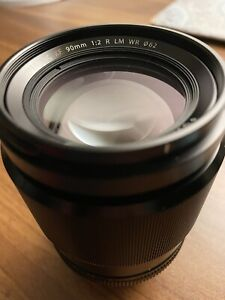 Fuji Fujifilm Fujinon XF 90mm f/2 R LM WR Lens for X-Mount, Black