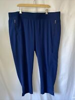 NWOT Chico's Zenergy Neema 4 20 22 Pull On Crop Polyester Stretch Pants Women's