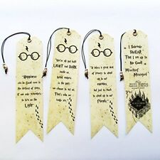 Harry Potter set Bookmarks 4 pieces with Owl bead Handmade Unique gift idea