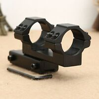 25.4mm Dual Flat Top Rings Rifle Laser Scope Mount Extended 11mm Dovetail Rail