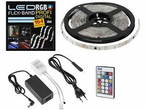 Digital Magic Raya - LED RGB Movimiento Banda de Luz Set 5m Regulable IP65 - Ww