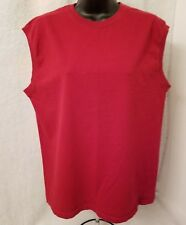 Fruit of the Loom Mens Red Sleeveless T-Shirt Size M