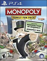 PLAYSTATION 4 PS4 GAME MONOPOLY FAMILY FUN PACK BRAND NEW & SEALED