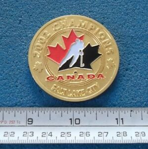 2002 SALT LAKE CITY OLYMPIC CHAMPIONS TEAM CANADA HOCKEY MEDAL MÉDAILLE # Y853
